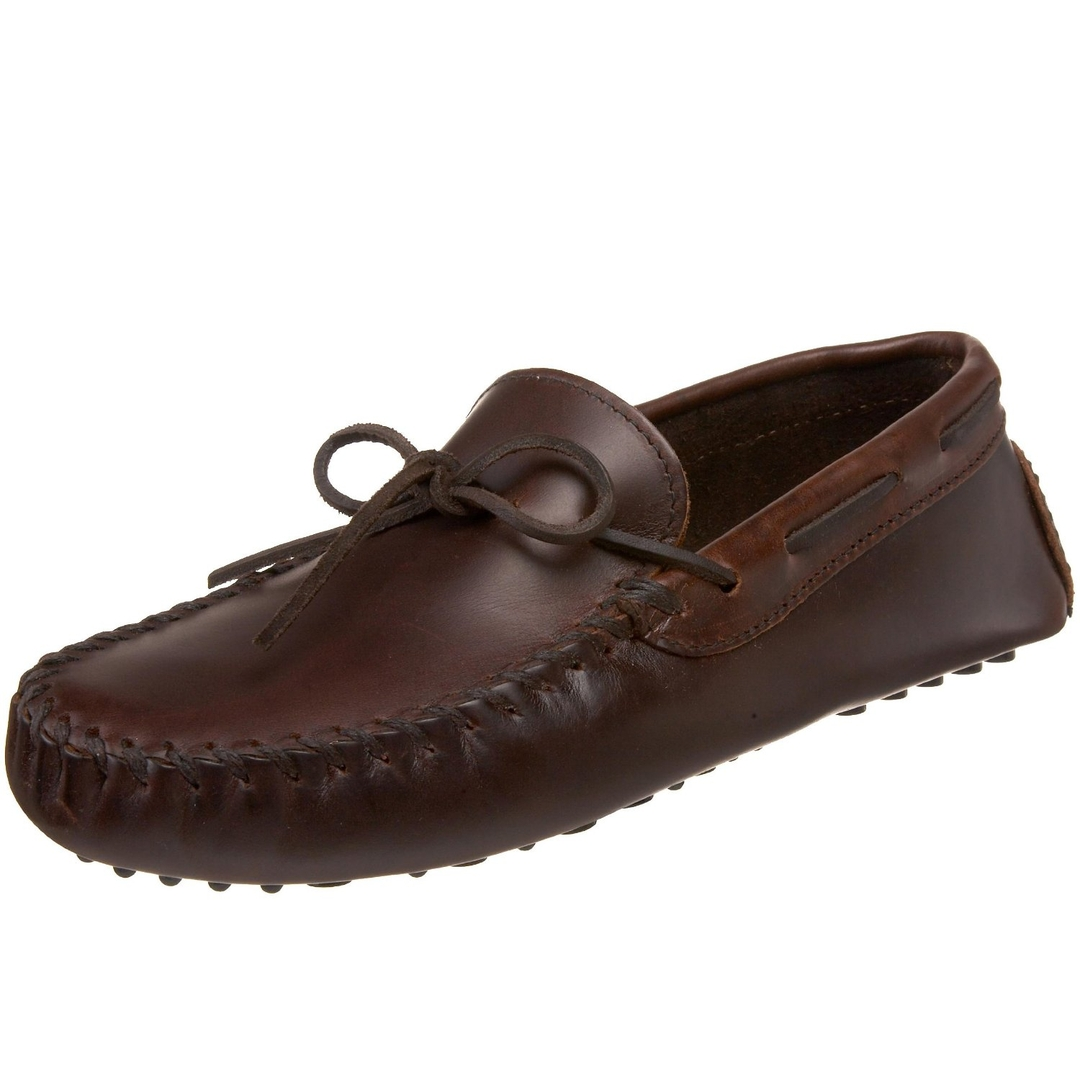 Mens Moccasin Shoe Leather Sole And Upper