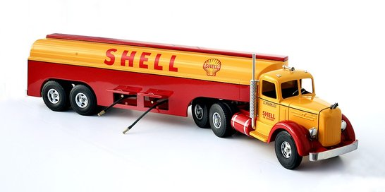Smith Miller Shell Gasoline Tanker Truck